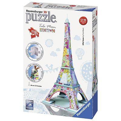 Puzzle 3D  Turnul Eiffel - Colorat, 216 Piese de la Ravensburger