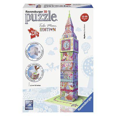 Puzzle 3D Big Ben - Colorat, 216 Piese de la Ravensburger