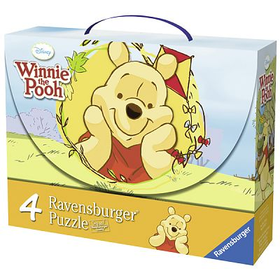 Ravensburger Puzzle Winnie si Fluturii, 2x25 piese/2x36 piese