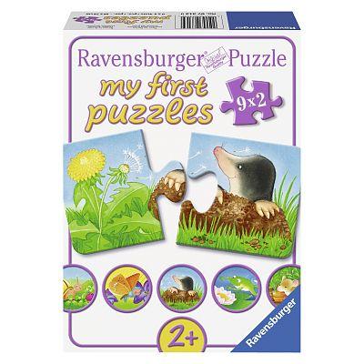Puzzle Animale de gradina 9 x 2 piese de la Ravensburger