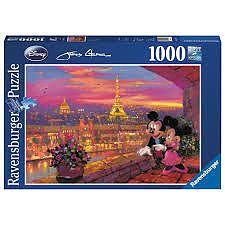 Puzzle Disney apusul la Paris, 1000pcs de la Ravensburger