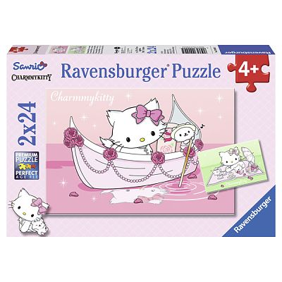 Puzzle Hello Kitty, 2x24 piese de la Ravensburger