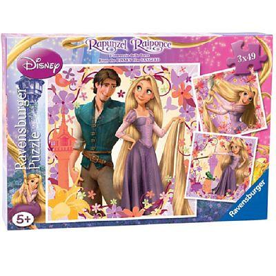 Puzzle Rapunzel, 3x49 piese de la Ravensburger