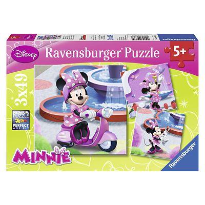 Puzzle Minni Mouse in Parc, 3x49 piese de la Ravensburger