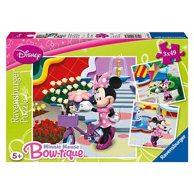 Ravensburger Puzzle Minni Mouse Bow-tique, 3x49 piese