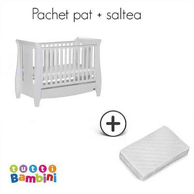 Set patut pentru bebelusi Lucas White + salteluta