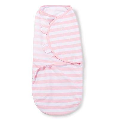 SUMMER Infant Sistem de infasare pentru bebelusi Dungulite alb/roz, 0-3 luni