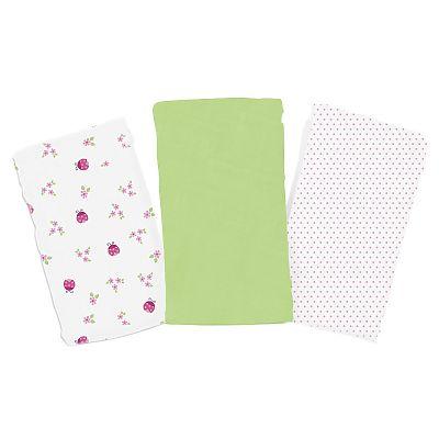 SwaddleMe - Set de 3 paturici de muselina verde/roz/alb de la SUMMER Infant