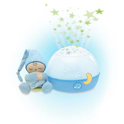 Jucarie lampa cu proiectie Primele Vise Noapte buna, stelute!, Bleu, 0luni+