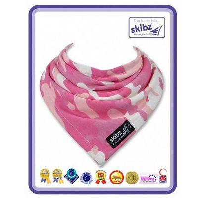Baveta/Esarfa bebe Pink Camouflage (Jersey)
