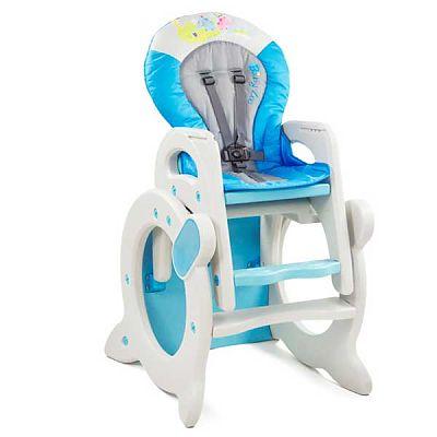 MyKids Scaun de masa 2 in 1 Baby Zoo albastru