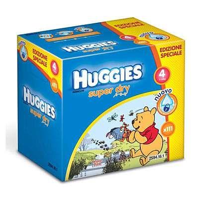 Huggies Scutece copii nr. 4 SuperDry, 7-14 kg, 111 bucati