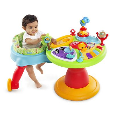 Bright Starts Centru de activitati 3-in-1 Around We Go Zippity Zoo
