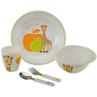 Vulli Set Pentru Masa Melamina Girafa Sophie Orange