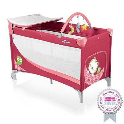Baby Design Patut pliant cu 2 nivele Dream 02 Raspberry 2014