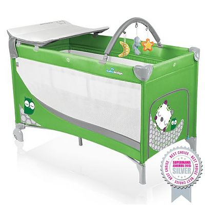 Patut pliant cu 2 nivele Dream 04 green 2015 de la Baby Design