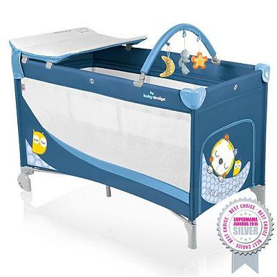 Baby Design Patut pliant cu 2 nivele Dream 03 blue 2015
