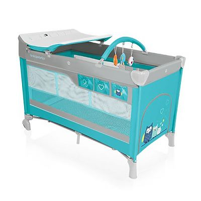 Baby Design Patut pliant cu 2 nivele Dream 05 turquoise 2016