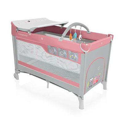 Baby Design Patut pliant cu 2 nivele Dream 08 pink  2016