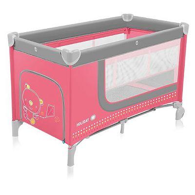 Baby Design Patut pliant cu 2 nivele Holiday 02 pink