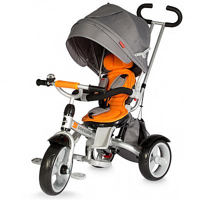 DHS Baby Tricicleta multifunctionala COCCOLLE GIRO portocaliu