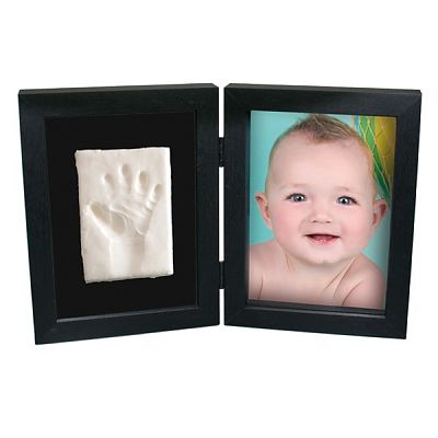 Kidzzcast Kit Amprenta bebelus 2D 'My First Print of Frame Negru