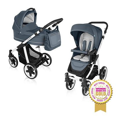 Carucior Multifunctional 2 in 1 Lupo Comfort 07 Graphite 2016 de la Baby Design