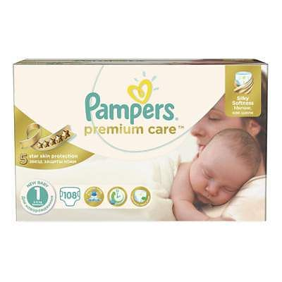 Pampers Scutece nr. 1 Premium Care Newborn, 2-5 kg, 108 bucati