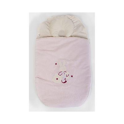 BebeDeco Sac De Dormit Somn Usor Pentru Nou Nascuti Cu Perna Impotriva Plagioencefaliei-ROZ