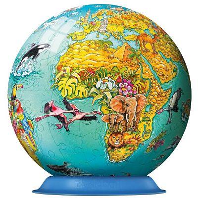 Puzzle 3D Globul Lumii, 108 Piese de la Ravensburger