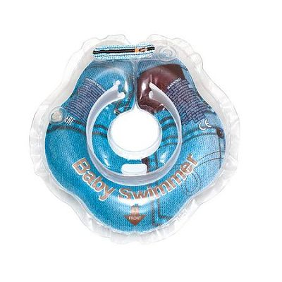BabySwimmer Colac de inot pentru gat Jeans Colectia Glamour 0-24 luni (3-12kg)