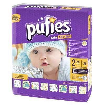 pufies Scutece Baby Art mini nr.2; 3-6 kg (jumbo pack) 80 buc
