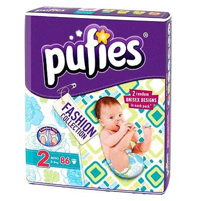pufies Scutece Fashion Collection mini nr.2 3-6 kg 86 buc