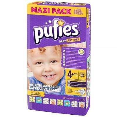 pufies Scutece nr.4+  Baby Art, 9-16Kg, 52 buc