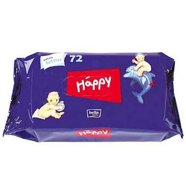 Happy Servetele Umede cu lotiune HAPPY rezerva 72 buc