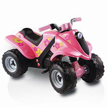 Smoby ATW cu acumulator Quad Boy roz 6V