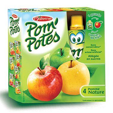 Pom'Potes Specialitate de fructe - mere x 4 buc