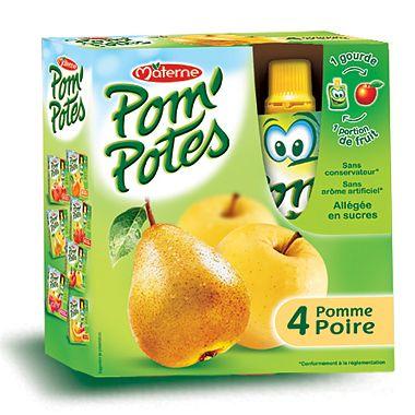 Pom'Potes Specialitate frantuzeasca Pom'Potes de mere si pere x 4 buc