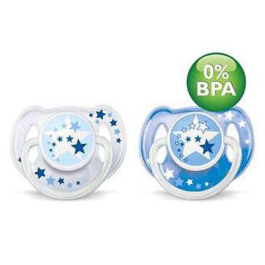 PHILIPS AVENT Suzete de noapte 6-18 luni fara BPA