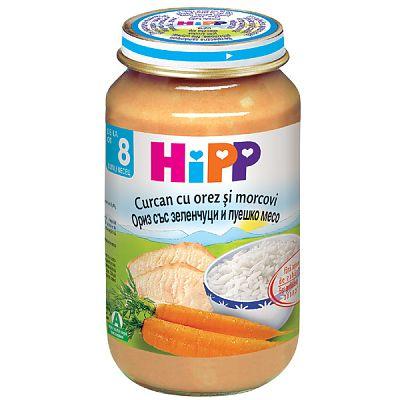 HIPP Meniu Curcan cu orez si morcovi