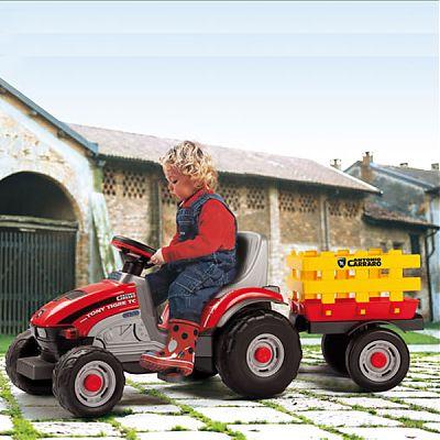 Peg Perego Tractor Mini Tony Tigre cu remorca