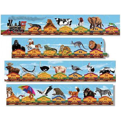 Melissa&Doug Puzzle de podea Trenul alfabet