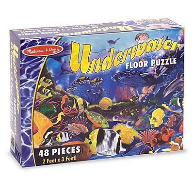 Melissa&Doug Puzzle de podea Viata subacvatica