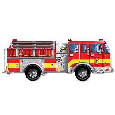 Melissa&Doug Puzzle de podea gigant Masina de pompieri