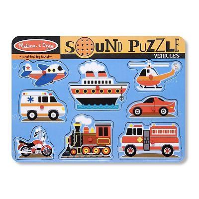 Melissa&Doug Puzzle cu sunete Vehicule