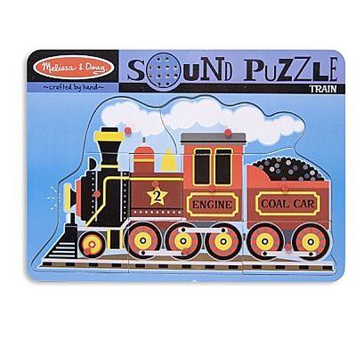 Melissa&Doug Puzzle de lemn cu sunete Locomotiva cu aburi