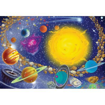 Melissa&Doug Puzzle Sistemul Solar 100 pcs