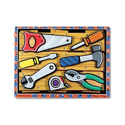 Melissa&Doug Puzzle lemn in relief Uneltele