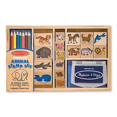 Melissa&Doug Set de stampile cu Animale