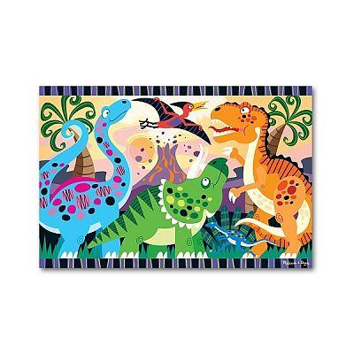 Melissa&Doug Puzzle de podea Inceputurile dinozaurilor